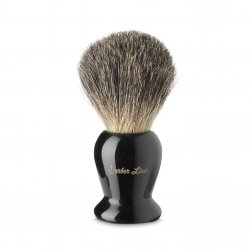 Barber Line Shaving Brush Black Handle 06183 - štětka na holení